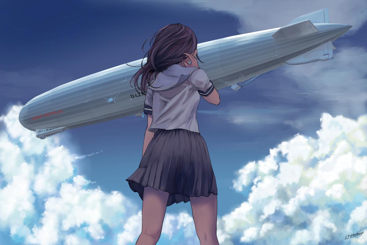 巨大構造物と少女シリーズ6「在りし日の空」|宗像久嗣ポートフォリオ